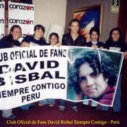 david y su club con pancarta