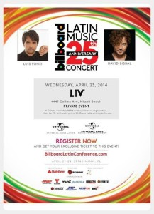 Concierto 25 Aniversario Billboard Latin Music @ LIV Nightclub en Miami Beach | Miami Beach | Florida | Estados Unidos